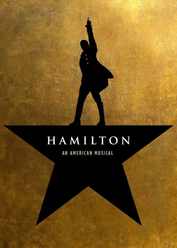"The poster for Broadway's ""Hamilton."""