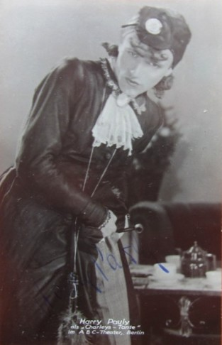 Harry Pauly as Charley's Aunt in Berlin, early 20th century. (Photo: Schwules Museum*)
