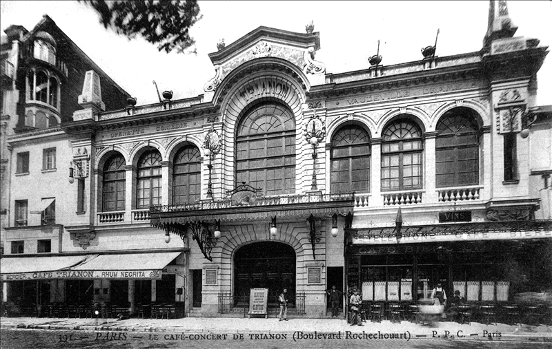 Early photo of the Trianon theatre. (Source: Wikipedia)