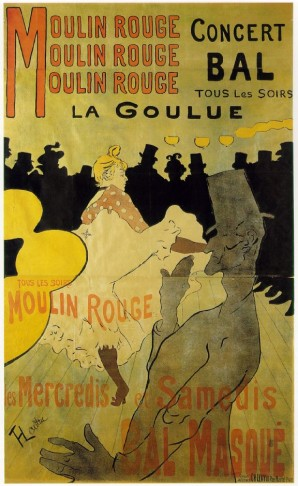 Moulin Rouge: La Goulue, poster by Henri de Toulouse-Lautrec, 1891. (Photo: Wikipedia)