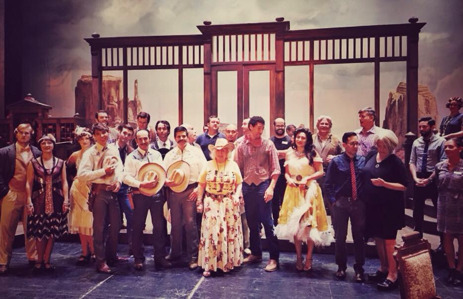 "Yvonne Kalman surrounded by the cast of the Arizona Opera production of ""Arizona Lady,"" 2015. (Photo: Private)"
