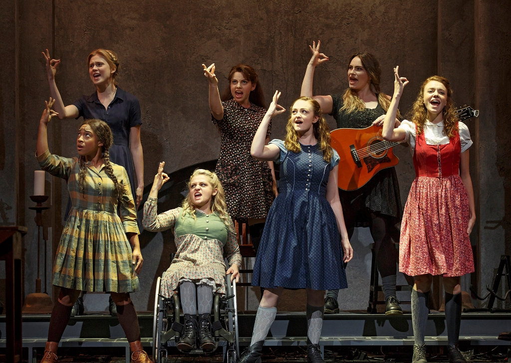 "The youthful female cast of ""Spring Awakening"" 2015. (Photo: Joan Marcus)"