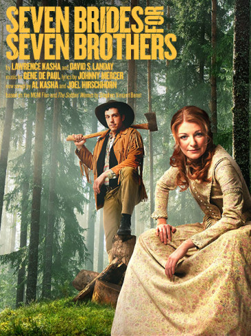 "The poster for the Regent's Park production of ""Seven Brides for Seven Brothers,"" which is also the cover of the cast album."