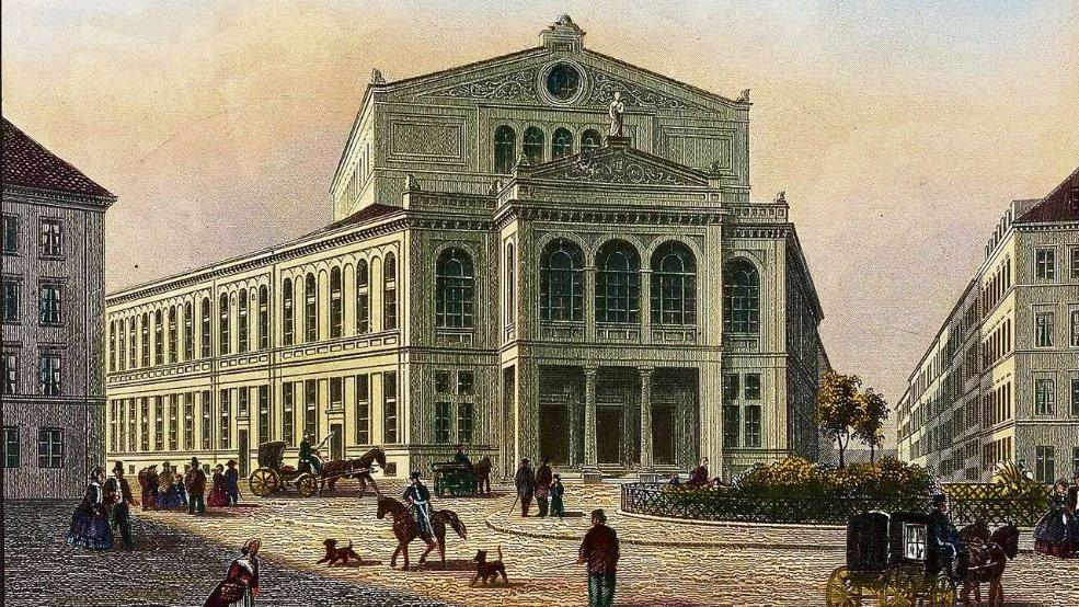 A print of the Gärtnerplatz Theater from 1865, the year the house opened. (Photo: Münchner Stadtmuseum)