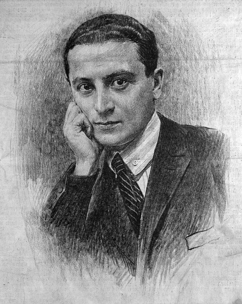Composer Michael Krasznay-Krausz (1897-1940). (Photo:  Der Humorist, vol. 24, iss. 44)
