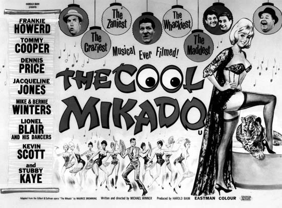 "Yet another version: poster for the 1962 ""The Cool Mikado,""  a British musical film directed by Michael Winner."