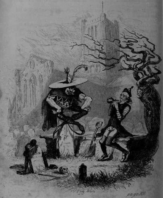 "A scene from the ""Pickwick Papers"": The Goblin and the Sexton."