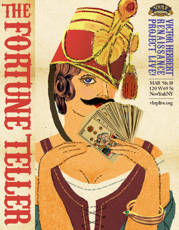"Art work for the new ""Fortune Teller"" production in New York."