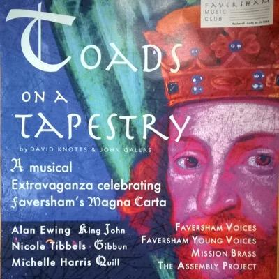 "CD cover ""Toads on a Tapestry."""