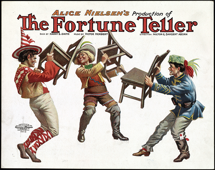"Hungarians dancing in ""The Fortune Teller."""