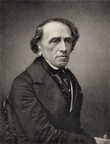 Giacomo Meyerbeer, engraving from a photograph by Pierre Petit.