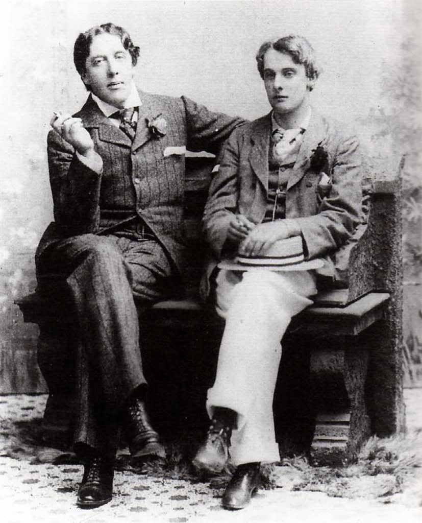 Oscar Wilde and his lover, Lord Alfred.