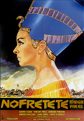 "Poster for the 1961 movie ""Nefertiti, regina del Nilo."""