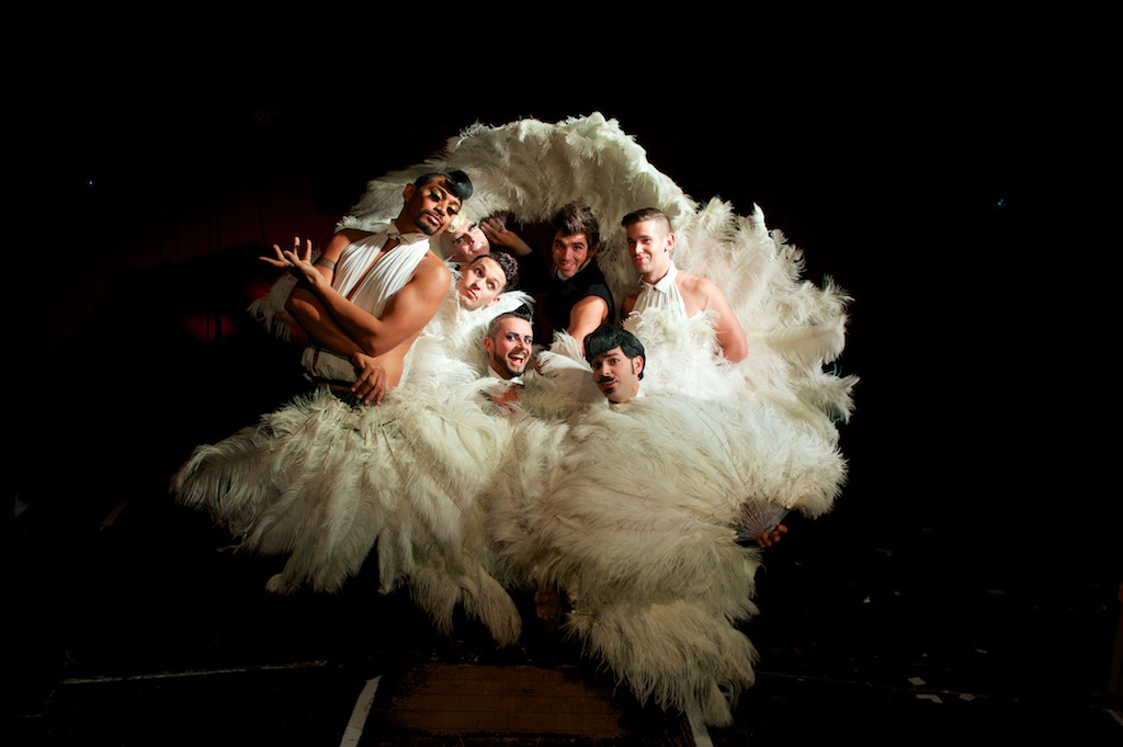 The Australian burlesque group Briefs. (Photo: Sébastien Gracco)