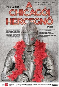 "Poster for the 2016 production of ""Herzogin von Chicago"" in Budapest. (Photo: Budapesti Operettszínház)"