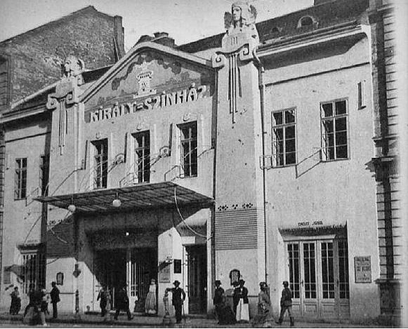The Király Színház in Budapest, 1900.