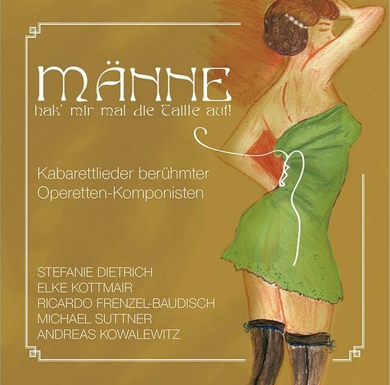 """CD cover """"Männe, hak' mir mal die Taille auf!"""" (BOBBY Music)"""