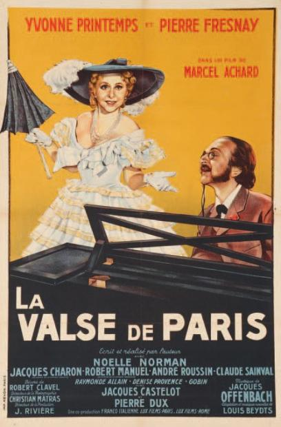 "Poster for the 1950 movie ""La Valse de Paris."""