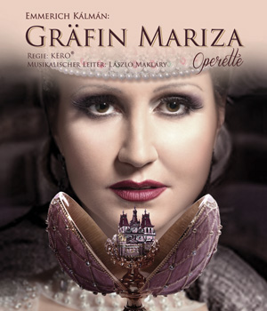 "Poster for the Budapest Operetta Theater production of ""Gräfin Mariza."""