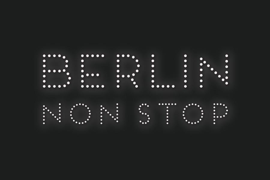 """The logo art for """"Berlin Non Stop"""", 2016."""