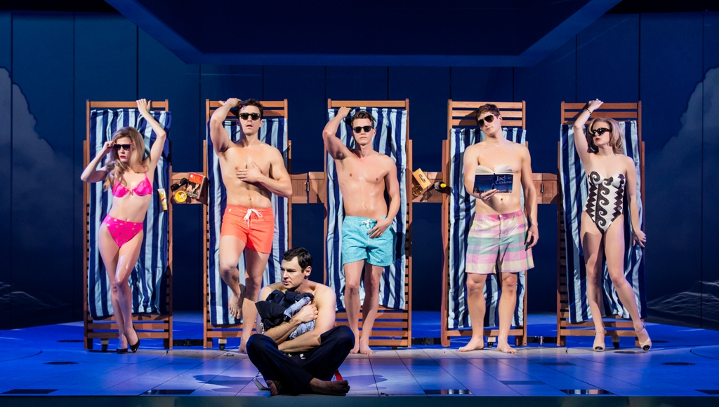 "Sumer in the Hamptons scene from ""American Psycho"" on Broadway. (Photo: ""American Psycho"": Jeremy Daniel)"