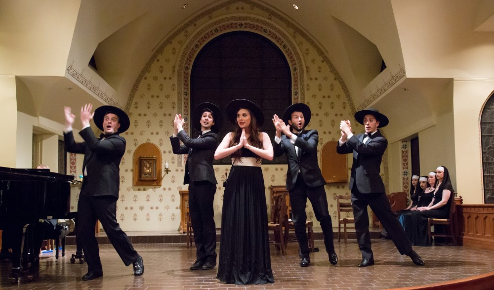 "From ""The Serenade"" 2016: Song In Fair Andalusia, with (from left) Daniel Greewood, Drew Borlander, Natalie Ballenger, Jovani McCleary, Seph Stanek. (Photo: Jill LeVine)"