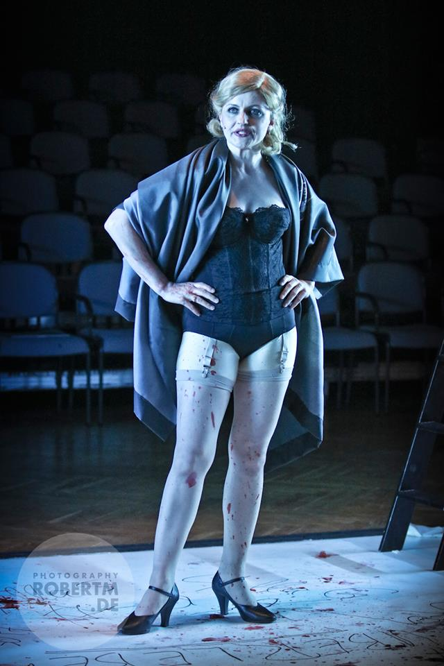 "Frederike Haas with blood all over herself in ""Stella."" (Photo: Robert M)"