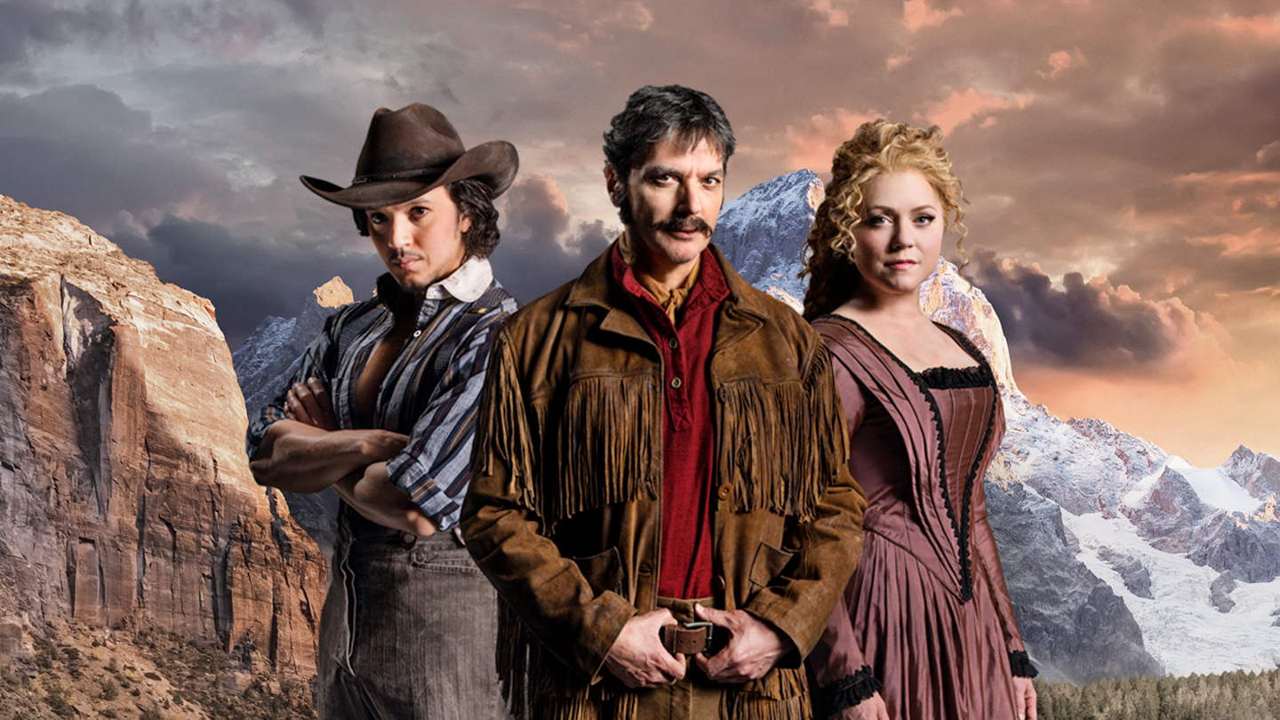 "Poster image for the 2016 production of ""Paint Your Wagon"" in Seattle, at the 5th Avenue Theatre."