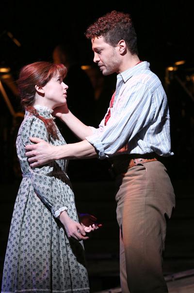 "Alexandra Socha and Justin Guarini in Encores' ""Paint Your Wagon,"" 2015. (Photo: Joan Marcus)"