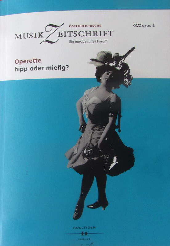 Cover of the 2016 operetta issue of the ÖMZ.