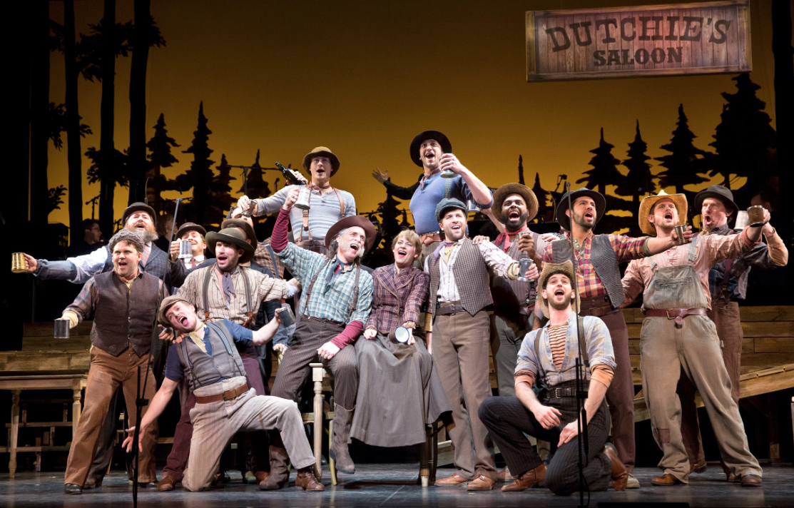 "The lusty cowboys from Encores' ""Paint Your Wagon,"" 2015. (Photo: Joan Marcus)"