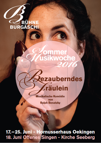 "Poster for the Swiss production of ""Bezauberndes Fräulein."""