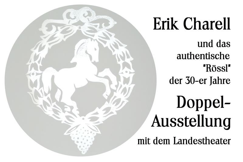 Poster for the double exhibition in Neustrelitz.
