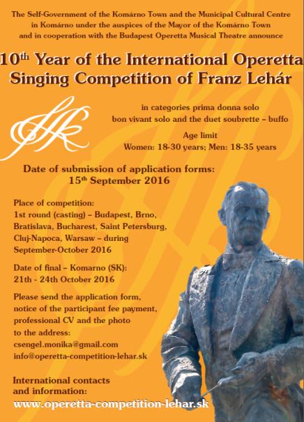 International Operetta Singing Competition of Franz Lehár