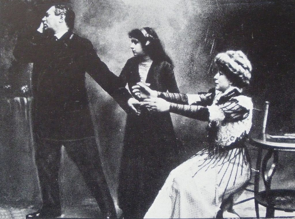 "Grand gestures at the Second Avenue Yiddish Theater, 1910: David Kessler, Jennie Goldstein and Malvina Lobel in Joseph Lateiner's ""The Jewish Heart."""