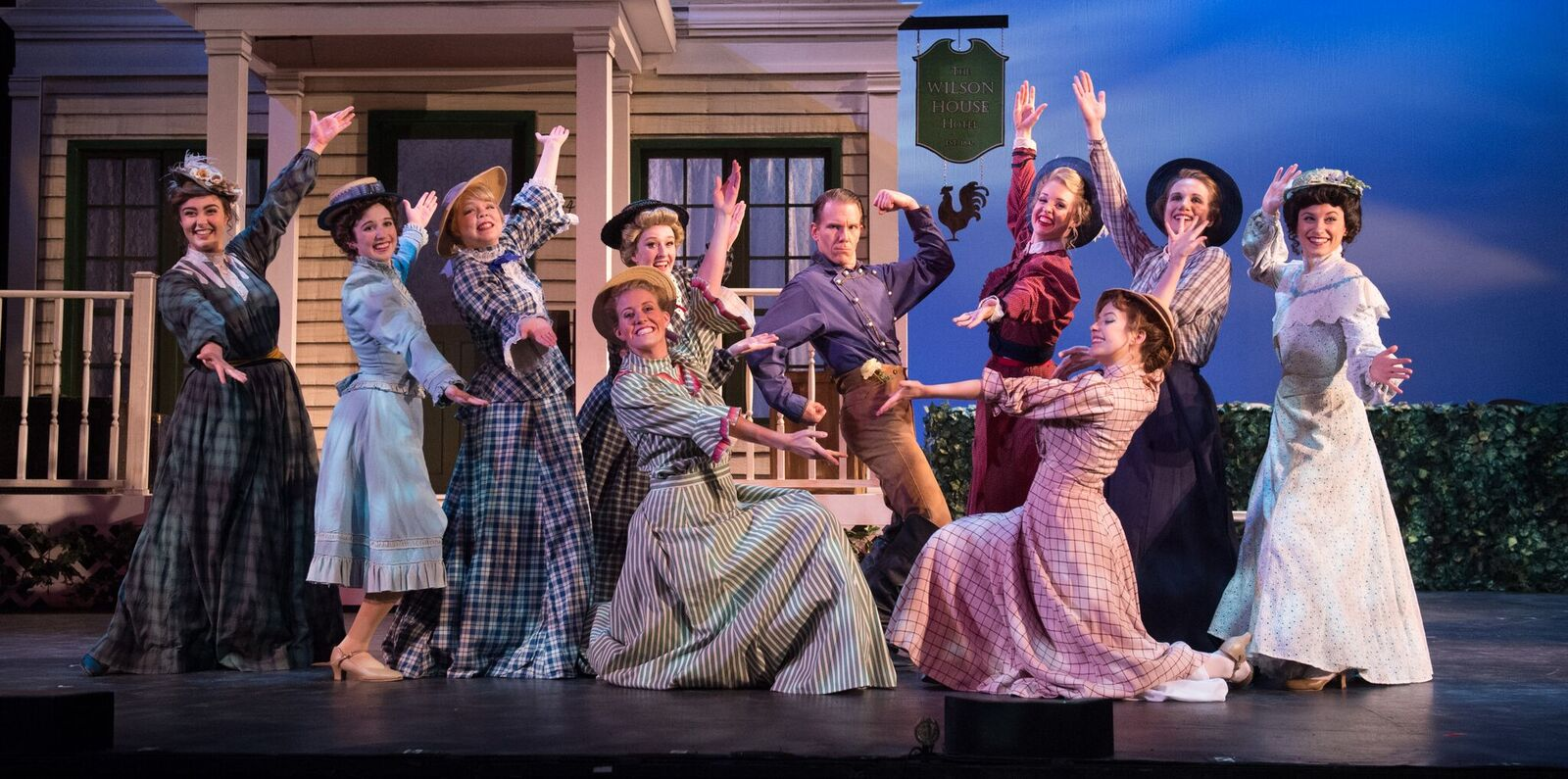 "The ""Annie Get Your Gun"" ensemble at the Ohio Light Opera. (Photo: Matt Dilyard)"