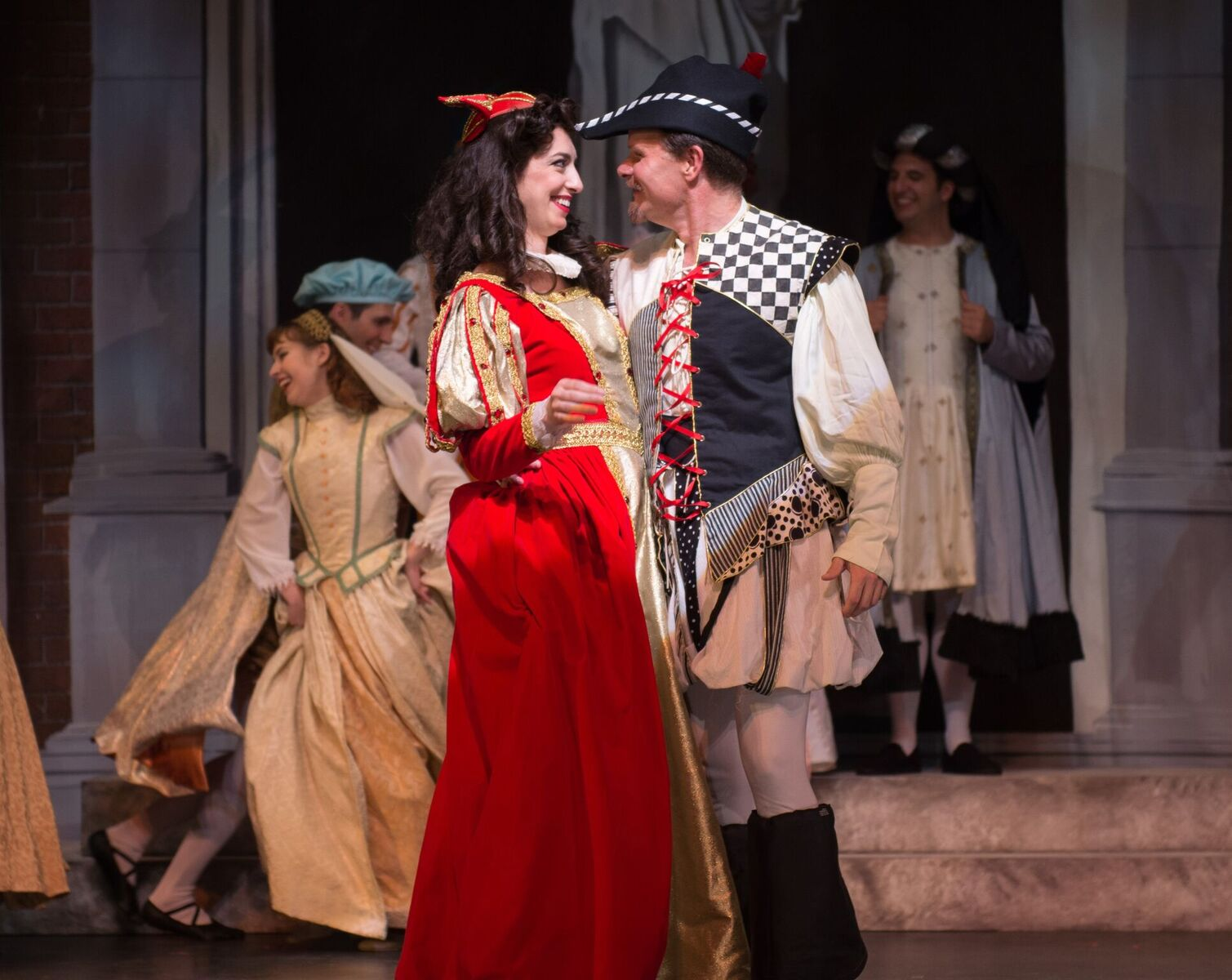 """Kiss Me, Kate"" with Ted Christopher as Petruchio and Sarah Best as Kate. (Photo: Matt Dilyard)"