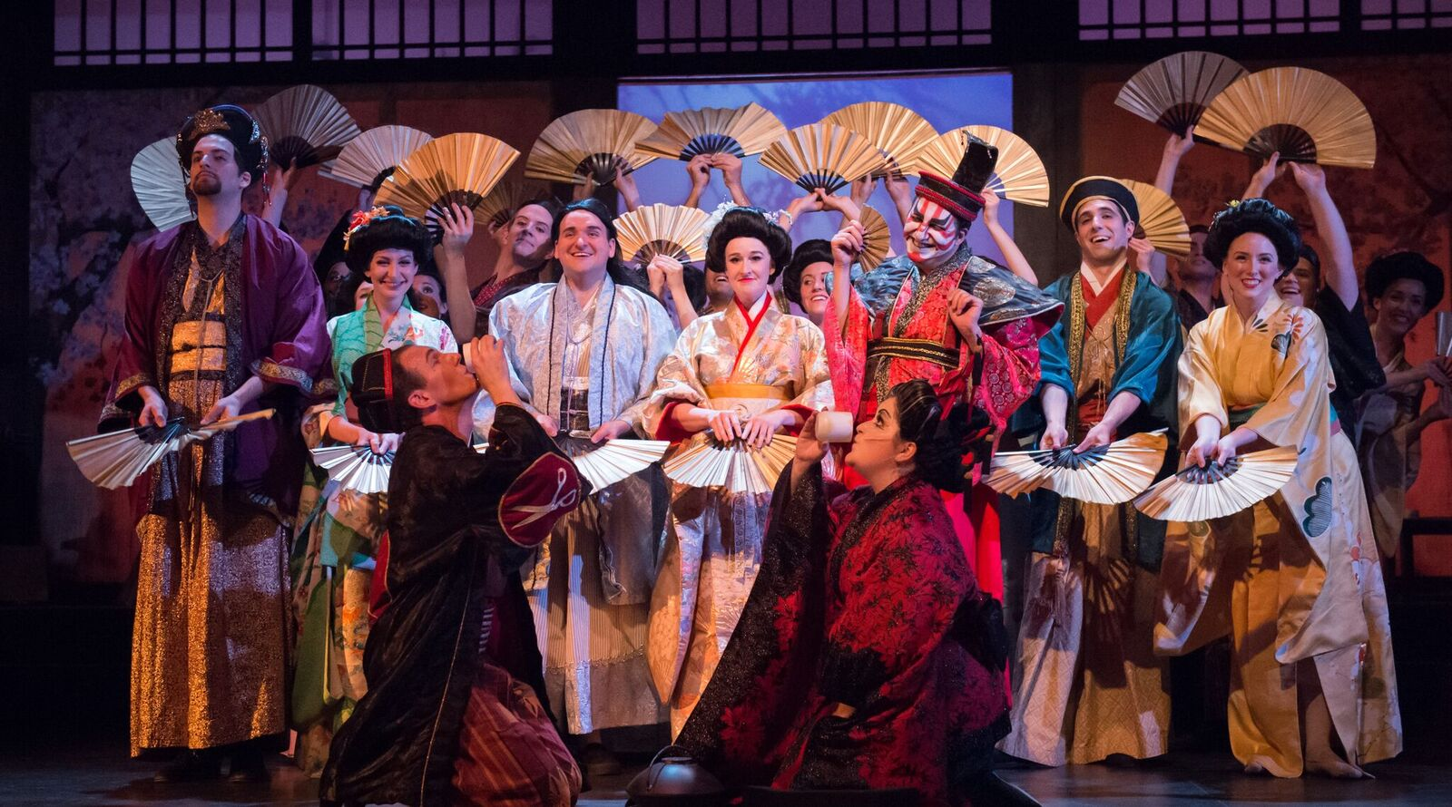 "The full cast of ""The Mikado"" at the Ohio Light Opera. (Photo: Matt Dilyard)"