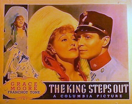 "Poster for the 1936 Columbia Pictures movie ""The King Steps Out"" starring Grace Moore."