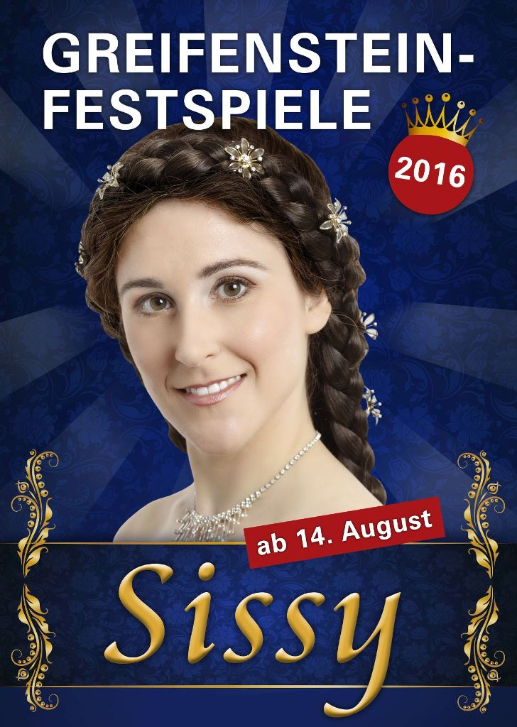 "Poster for the 2016 production of ""Sissy."""