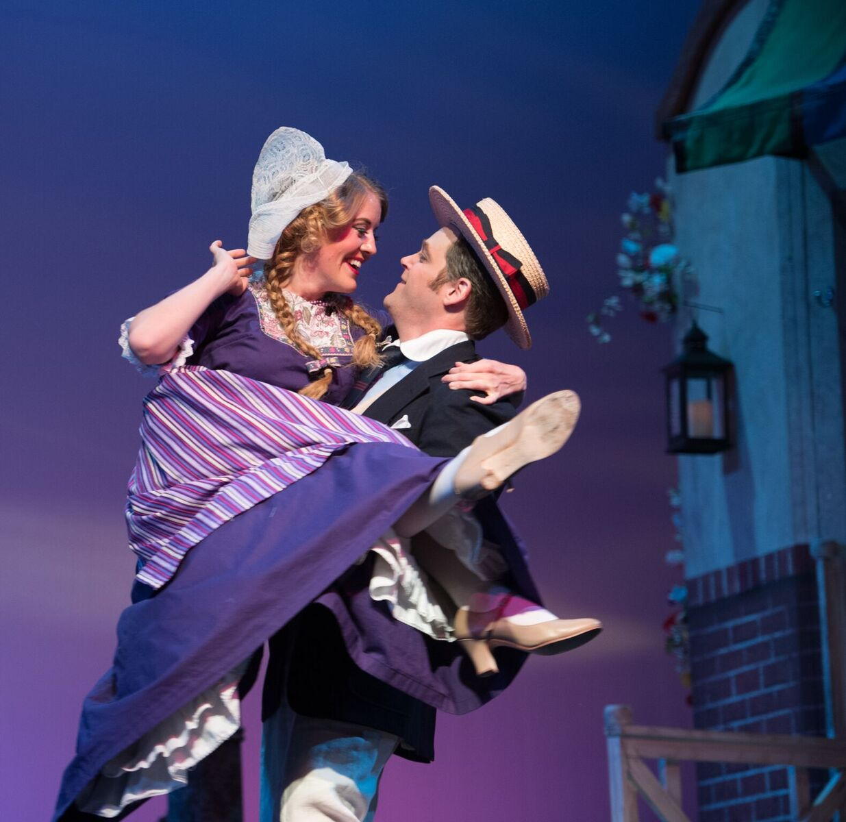 "Scene from Kalman's ""Hollandweibchen"" at OLO, with Sturdevant as the Prince and Meagan Sill as the Princess dressed up as a little Dutch girl. (Photo: Matt Dilyard)"