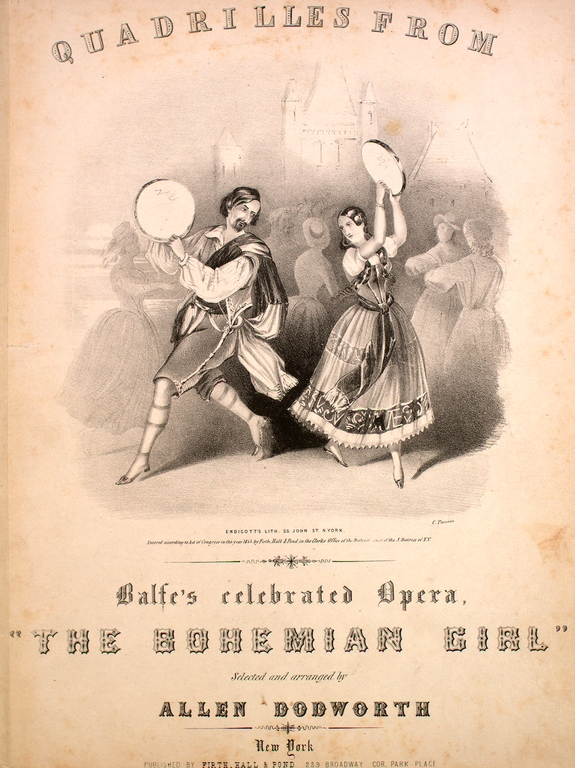 "Quadrilles From Balfe's opera ""The Bohemian Girl""."
