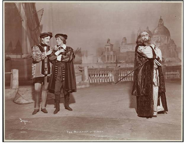 "Jacob P. Adler (far right) as Shylock in ""The Merchant of Venice."" Photo: Byron Company/Museum of the City of New York."