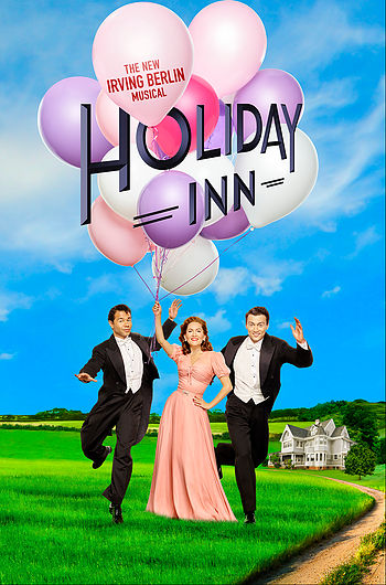 "Poster for the 2016 Irving Berlin musical ""Holiday Inn."""