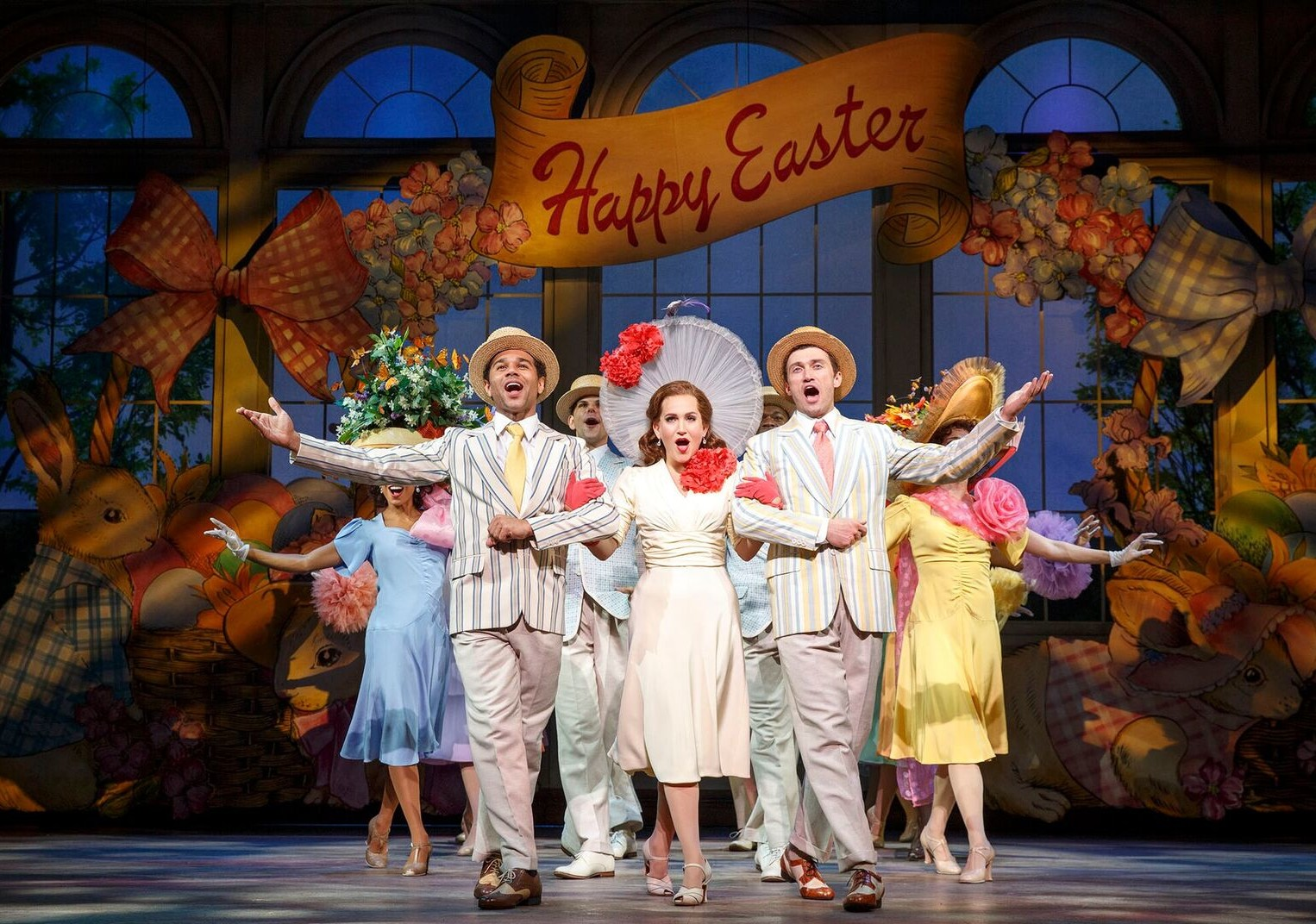 "The ""Easter Parade"" number from the 2016 ""Holiday Inn"" with Corbin Bleu, Lora Lee Gayer and Bryce Pinkham. (Photo: Joan Marcus)"