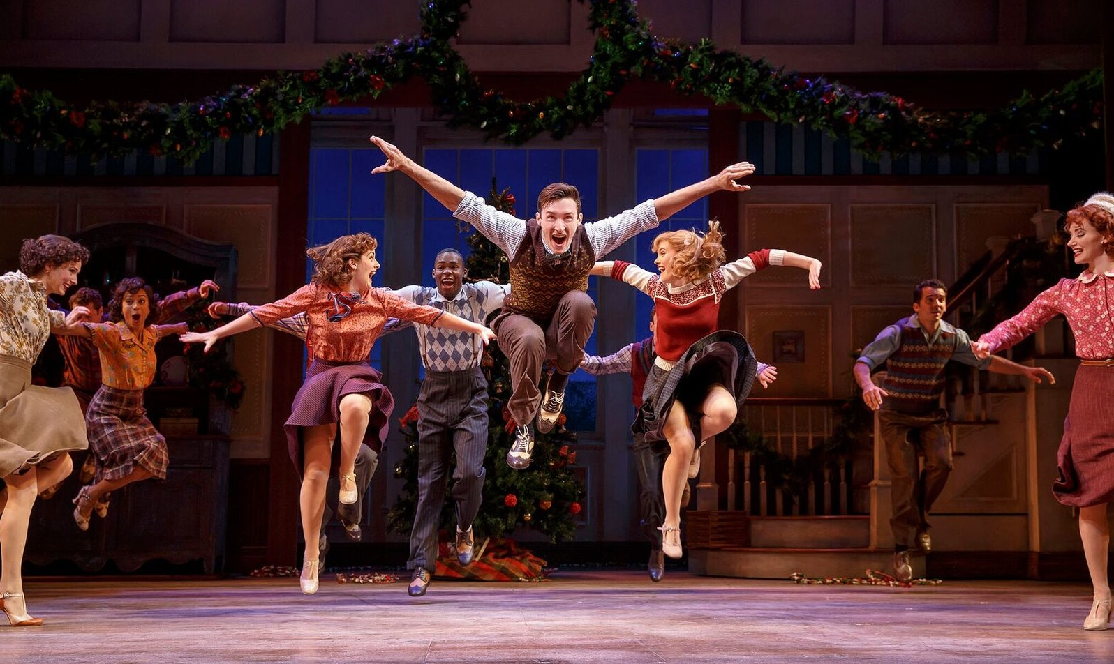 "Big dance routine from ""Holiday Inn"" with the ensemble of the 2016 Broadway production. (Photo: Joan Marcus)"