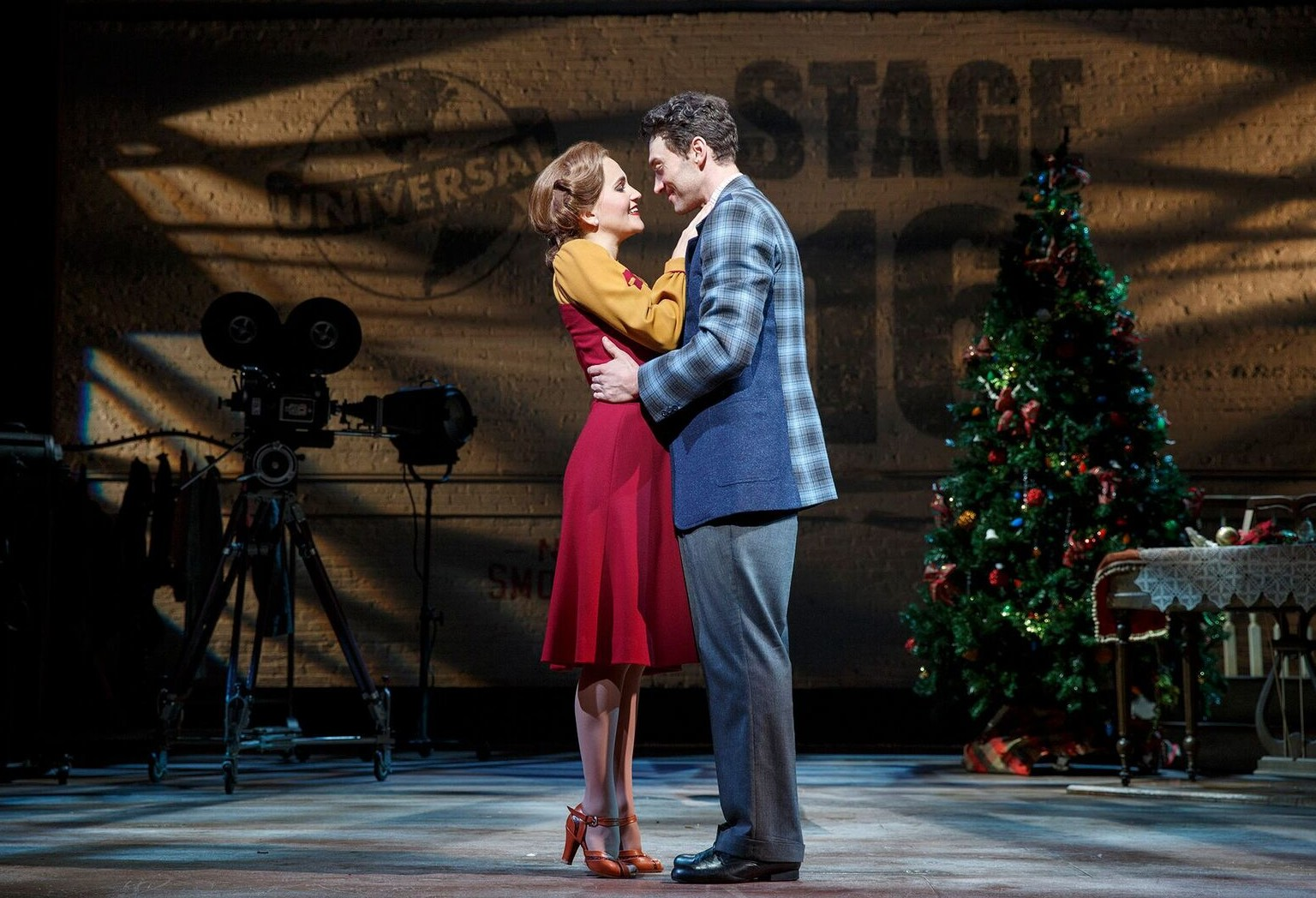 "Scene from the new Broadway version of ""Holiday Inn"" with Lora Lee Gayer and Bryce Pinkham. (Photo: Joan Marcus)"