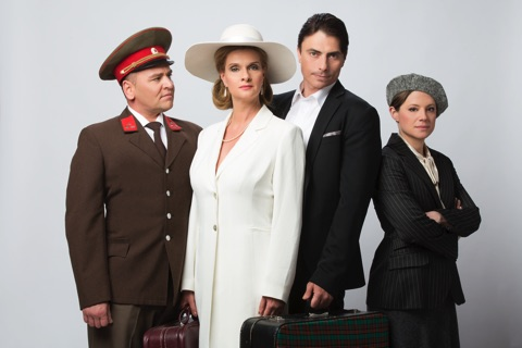 "The cast from the rock opera ""Lady Budapest"" about the 1956 revolution in Hungary. (Photo: Budapest Operetta Theater)"