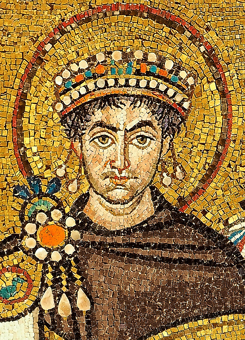 Mosaic of Iustinianus I in Ravenna's San Vitale. (Photo: Petar Milošević/Wikipedia)