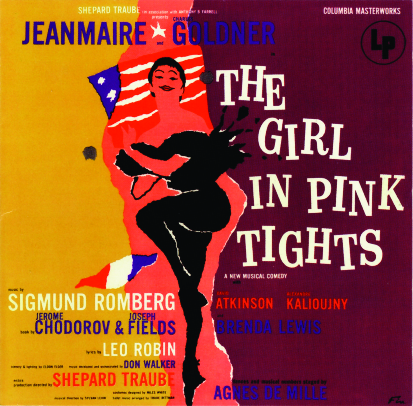 "LP cover of ""The Girl in Pink Tights."""